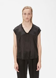 Raquel Allegra Perfect Shell Top Black