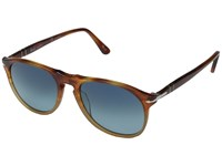 Persol 0Po9649s Tortoise Orange Blue Gradient Polarized Fashion Sunglasses