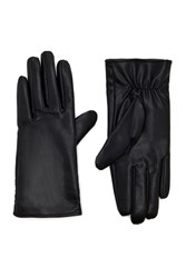 Forever 21 Faux Leather Gloves Black