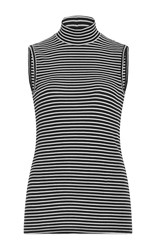 Atm Anthony Thomas Melillo Striped Mock Neck Top