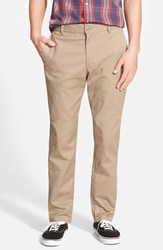 Rvca Men's 'The Week End' Slim Straight Leg Stretch Twill Chinos Khaki