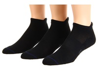 Wrightsock Spirit Tab 3 Pair Pack Black Low Cut Socks Shoes