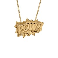 Edge Only Pow Pendant Extra Large Long In Gold