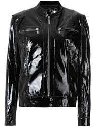 Olympiah Patent Leather Jacket Women Leather 42 Black
