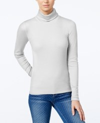 Planet Gold Juniors' Pullover Turtleneck Top Egret