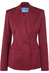 Thierry Mugler Wool Blend Twill Blazer Red