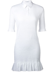 J.W.Anderson J.W. Anderson Ruched Polo Neck Dress White