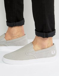 Fred Perry Underspin Slipon Woven Trainers Grey