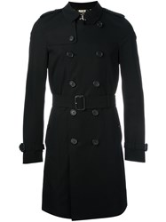 Burberry Double Breasted Trench Coat Black