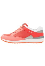 Ecco Speed Hybrid Golf Shoes Coral Blush Silver Metallic Steel