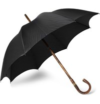 Kingsman Swaine Adeney Brigg Chestnut Wood Handle Umbrella Black