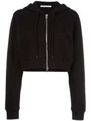 Givenchy Cropped Classic Hoodie Black