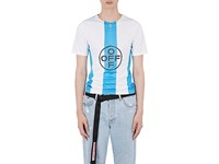 Off White C O Virgil Abloh Temperature Cycling T Shirt Blue