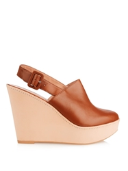 Robert Clergerie French Leather Wedge Clogs