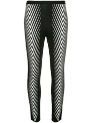 Haider Ackermann Chevron Print Leggings Black