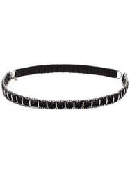 Saint Laurent Grid Chain Headband Black