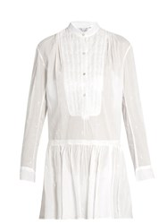 Thierry Colson Lizbeth Embroidered Cotton Dress White