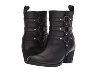 Dingo Noir Black Leather Cowboy Boots