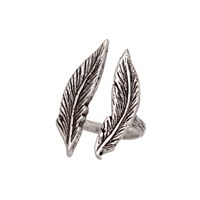 Brianna Lamar Double Feather Ring In Silver