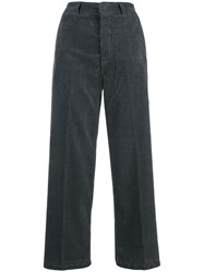 Department 5 Wide Corduroy Trousers Grey