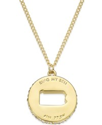 Kate Spade New York State Of Mind Gold Tone State Cutout Pendant Necklace Pennsylvania