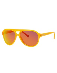 Jack Spade Thompson Round Sunglasses Orange