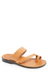 Jerusalem Sandals 'Zohar' Leather Sandal Tan