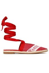 J.W.Anderson Woman Embellished Canvas Espadrilles Red