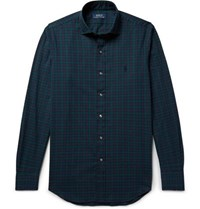 Polo Ralph Lauren Black Watch Checked Brushed Cotton Twill Shirt Navy