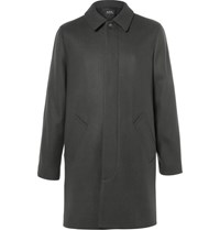 A.P.C. Wool Blend Overcoat Dark Green