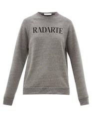 Rodarte Radarte Print Fleece Back Jersey Sweatshirt Grey