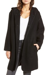 James Perse Women's Hooded Parka Black