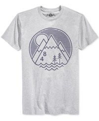 American Rag Men's Graphic Print Cotton T Shirt Only At Macy's Hgrey