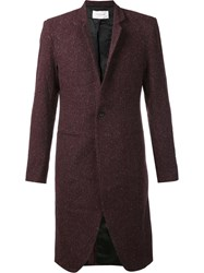 Strateas Carlucci Plated Surgical Coat Red