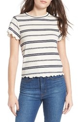 Women's Bp. Stripe Merrow Hem Tee Ivory Mix Stripe
