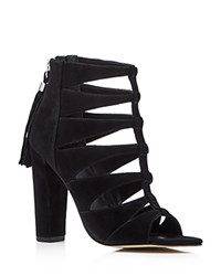 Marc Fisher Ltd. Hindera Caged High Heel Sandals Black