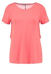 Teddy Smith Tiara Print Tshirt Coral