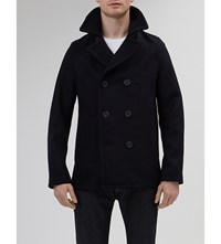 Community Clothing Double Breasted Wool Peacoat Navy