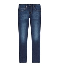 7 For All Mankind Straight Whiskered Jeans Male Blue