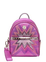 Mcm Extra Mini Stark Cyber Leather Backpack