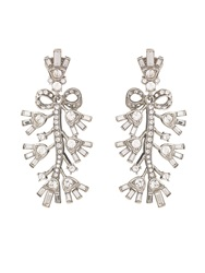 Oscar De La Renta Bow Crystal Embellished Earrings