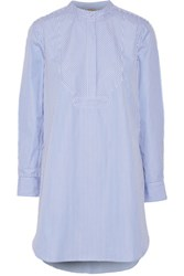Adam By Adam Lippes Striped Cotton Poplin Tunic Blue