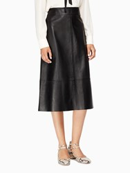 Kate Spade Leather A Line Skirt Black