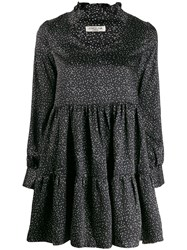 Jovonna Gingathered Dress Black