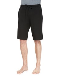 Derek Rose Basel Jersey Lounge Shorts Black Pink
