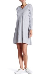 Candc California Emmie Long Sleeve Trapeze Dress Gray