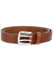 Closed Double Hole Belt Men Leather 85 Brown