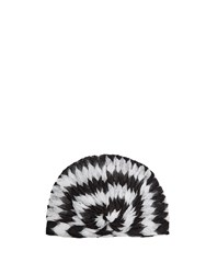 Missoni Mare Zigzag Knit Turban Black White