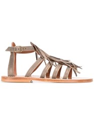 K. Jacques Fringed Sandals Green