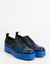 Comme Des Garcons Dripping Brogues Black Blue
